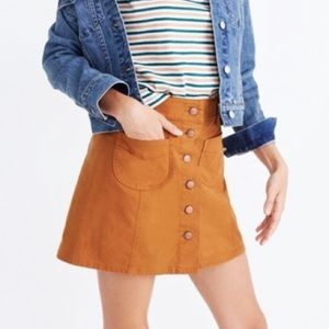 Madewell Garment-Dyed Patch-Pocket Skirt Size 00